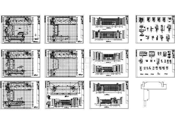 某大学五层框架结构教学楼设计cad全套建筑施工图纸(甲级院设计)-图一