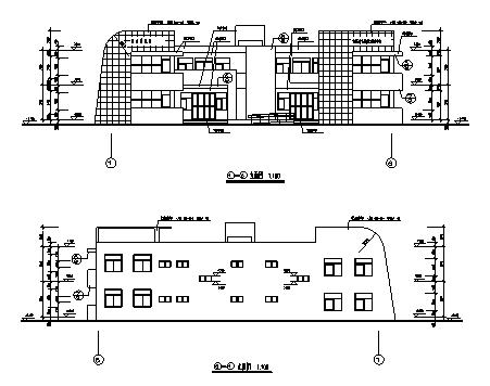 幼儿园设计_某二层钢筋混凝土框架结构幼儿园建筑施工cad图纸-图一