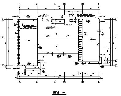 幼儿园设计_某二层钢筋混凝土框架结构幼儿园建筑施工cad图纸-图二