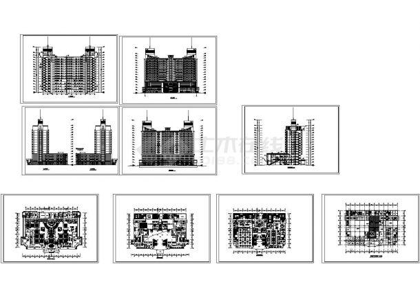 某多层砖混结构五星级酒店设计CAD全套建筑方案图纸(甲级院设计)-图二