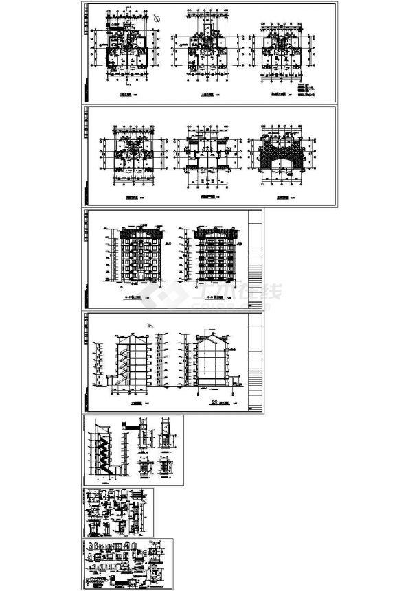某多层框架结构住宅楼设计cad全套建筑施工图(甲级院设计)-图二