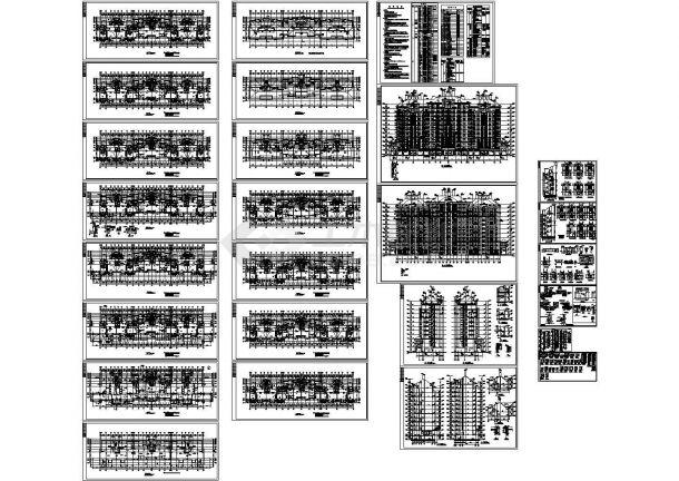 某高层剪力墙结构住宅楼(12430㎡)设计cad全套建筑施工图(含设计说明)-图一