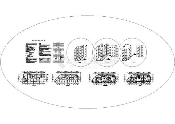 某多层住宅楼采暖通风设计cad施工图-图一