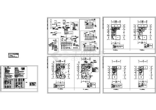苏州某3层砖混结构别墅电气设计CAD施工图-图二