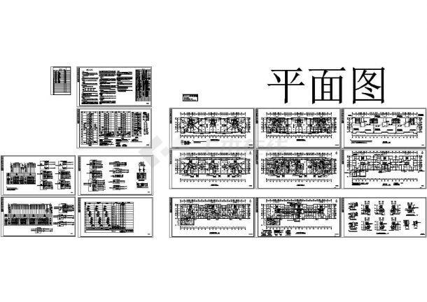 1.2万平米11层剪力墙结构住宅楼电气设计CAD施工图-图二
