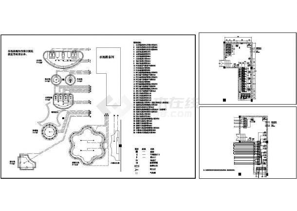 某酒店桑拿池给排水管道平面布置图纸-图一
