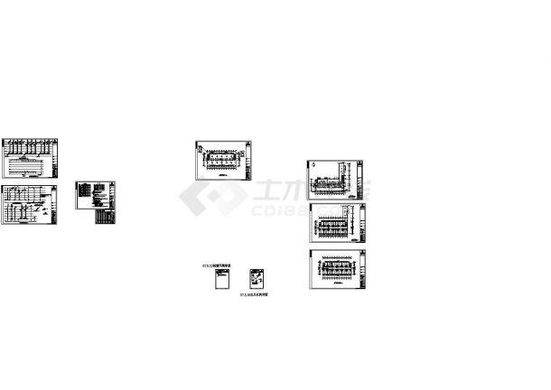 浙江某大学宿舍楼给排水CAD图纸-图二