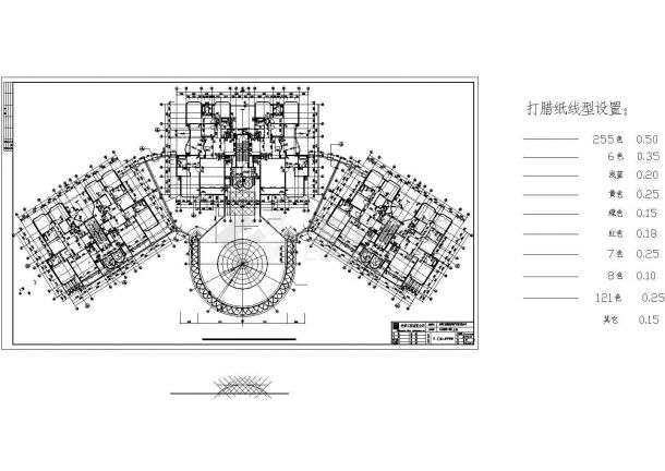 某三十层豪华住宅E、D栋建筑设计施工图-图一