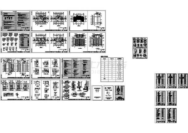 某二期住宅小区七层住宅楼建筑结构水电cad施工图-图一