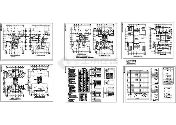 某地区17层高层住宅电气设计CAD施工图纸(甲级设计院设计,标注详细)-图二