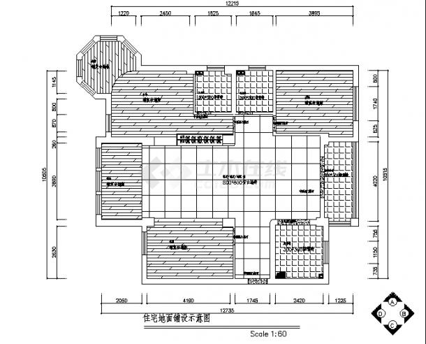 黑白经典风格住宅楼装修设计施工cad图纸-图一