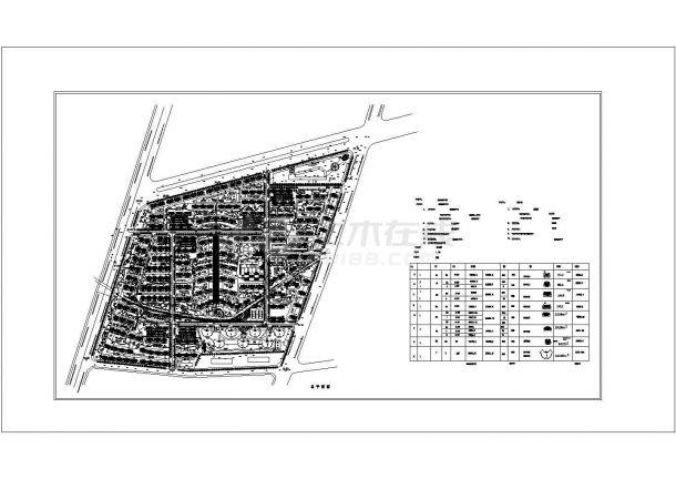 会峰山庄设计规划总平面图-图一