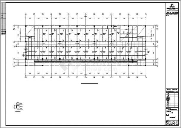 【最新】某公司办公楼钢结构工程设计方案CAD图纸-图一