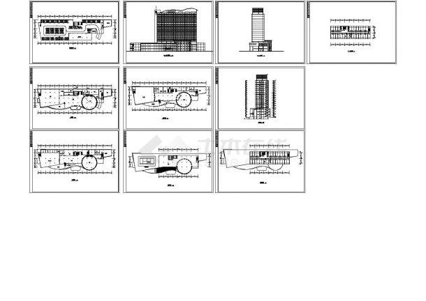 华美达酒店多层住宅建筑设计施工cad图纸,共十张-图一