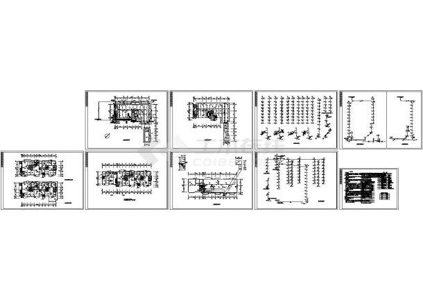 南方某小高层十层商住楼给排水施工图-图二