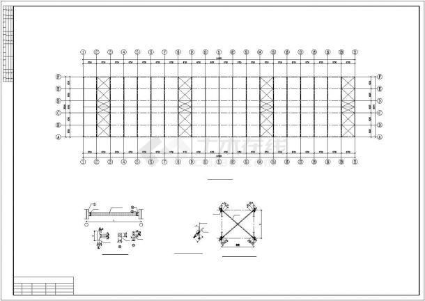 【最新】某大型钢结构厂房设计方案CAD图纸-图一
