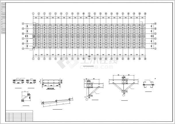 【最新】某大型钢结构厂房设计方案CAD图纸-图二