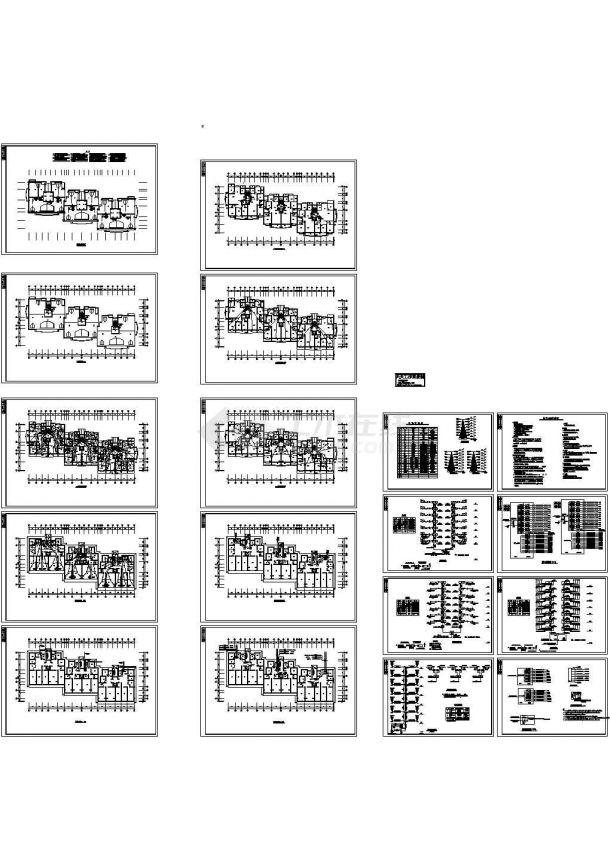小高层住宅电气cad施工图纸全套(标注详细)-图一