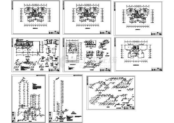 海南某高层综合楼给排水消防系统cad图纸-图一