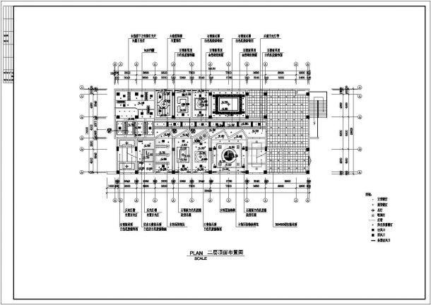 某中餐厅室内精装修设计cad详细施工图(甲级院设计)-图二