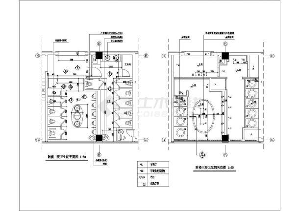 某五星级大酒店三层餐厅室内精装修设计cad全套施工图(甲级院设计)-图二