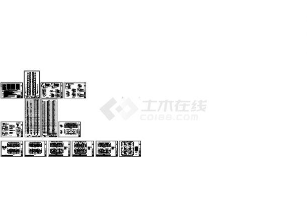 某34层框架结构住宅楼强弱电设计cad全套电气施工图(含设计说明)-图二
