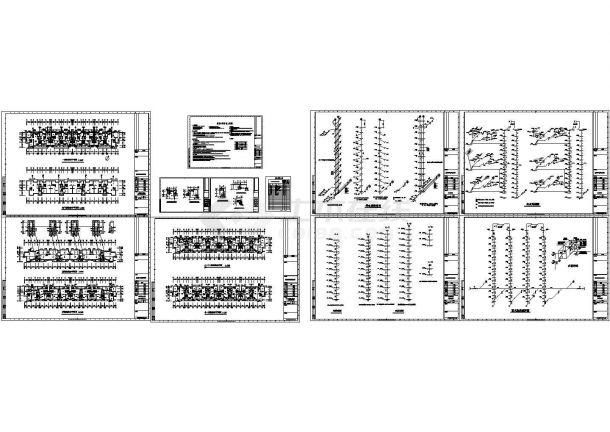 上海某十一层住宅给排水设计cad图纸-图一