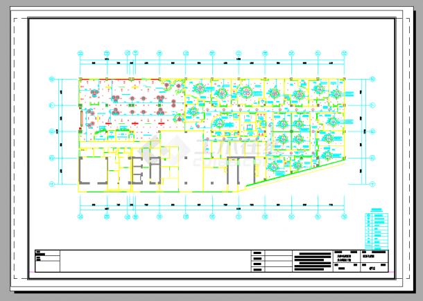 某2000平米全国连锁新概念饭店室内装修设计cad全套施工图(含设计说明,含效果图)-图一
