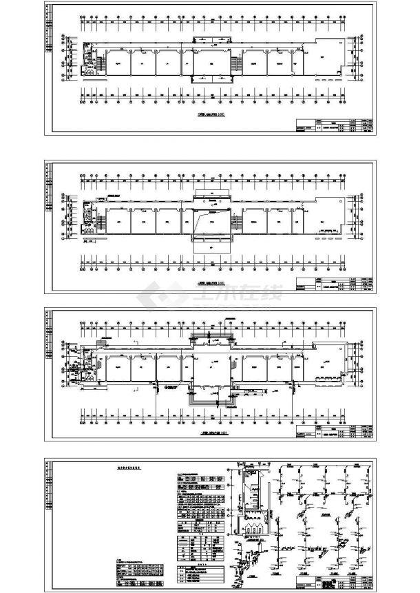 某研发办公楼给排水CAD施工设计图-图一