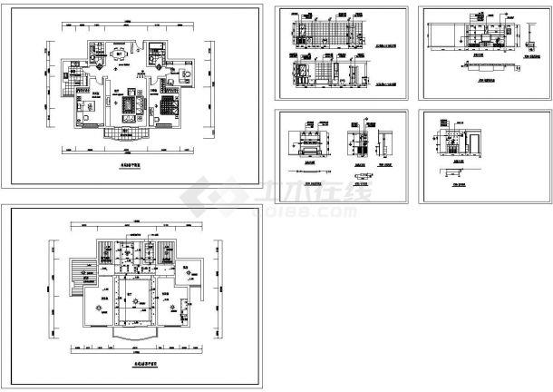 林苑小区多层住宅建筑设计施工cad图纸,共六张-图一