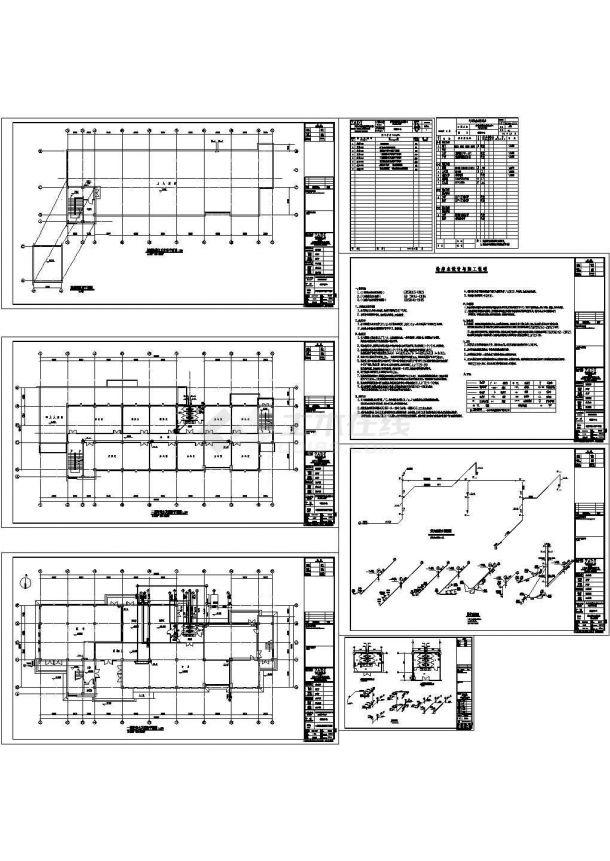 某基地邻里中心给排水CAD设计图纸-图一