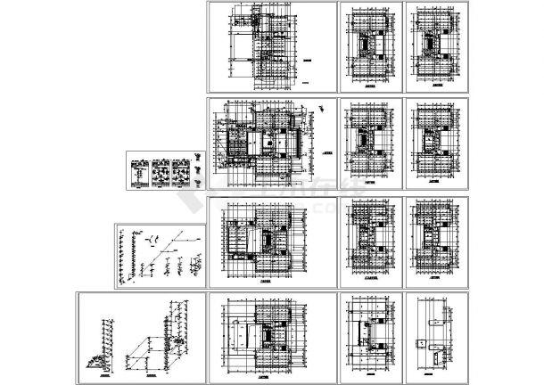 湖南某十层建筑给排水CAD设计图-图一