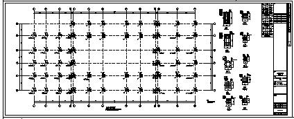 某市二层带地下室钢筋混凝土框架结构站房和站台雨棚结构施工cad图_站台雨棚施工-图一