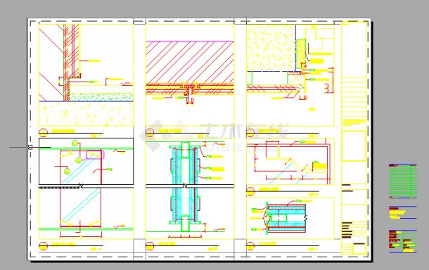 经典酒店中餐厅室内装修设计cad全套施工图(含实景图片)-图二
