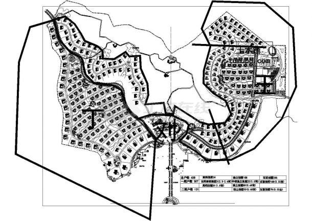 高档别墅景观规划设计cad图(含总平面图)-图一