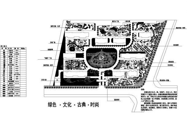 某中心广场景观设计cad图(含总平面图)-图一