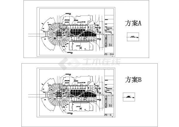 星海云庭广场景观方案设计cad图(含总平面图)-图二