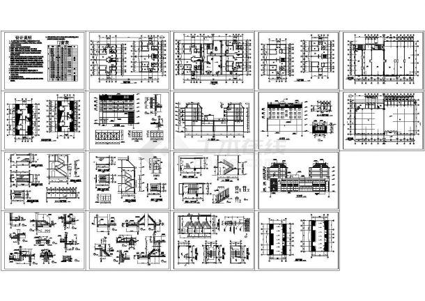 2284平方米某五层砖混结构商住楼建筑施工图-图一
