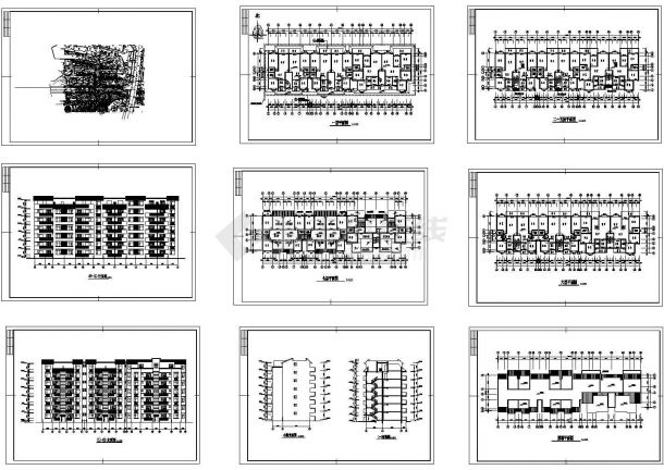 丽景苑小区某七层砖混结构住宅楼建筑cad施工图-图二