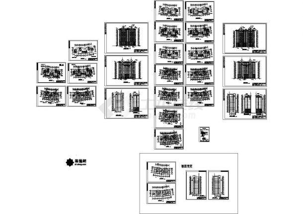 山东某十一层框剪结构住宅建筑施工图-图一