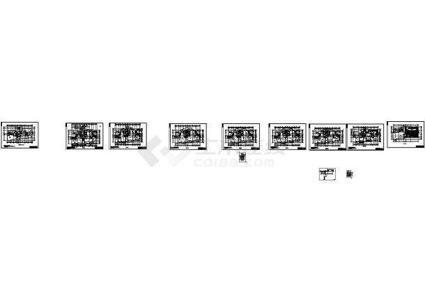 剪力墙结构住宅小区建筑施工图(设计功能包括:客厅、卧室、起居室等)-图一