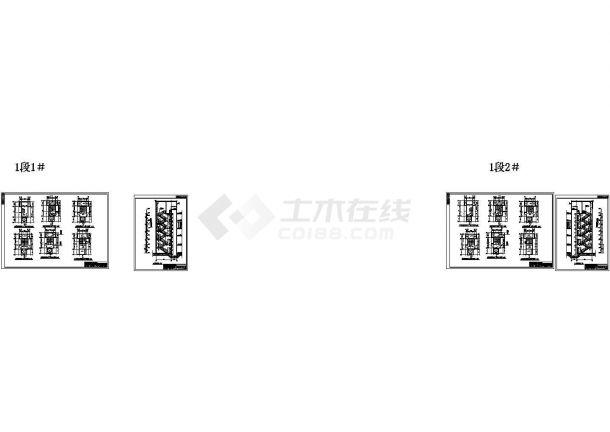 剪力墙结构住宅小区建筑施工图(设计功能包括:客厅、卧室、起居室等)-图二