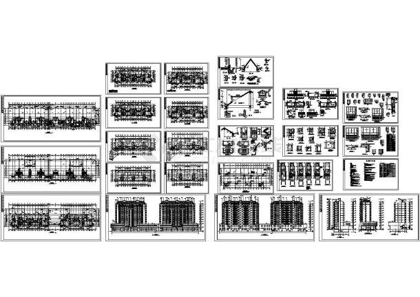 某十一层框架结构高层商住楼建筑施工图-图一