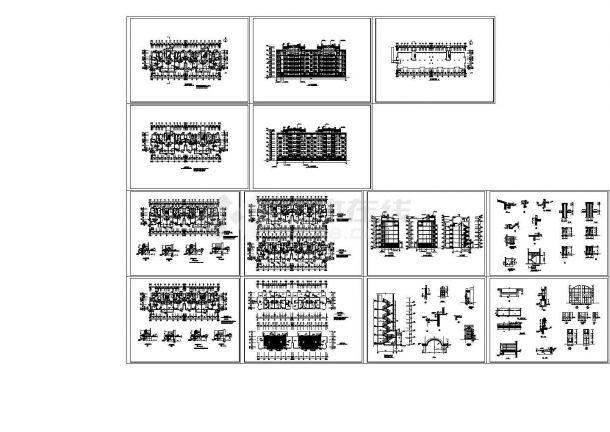 某六层异形柱住宅楼建筑施工图-图一