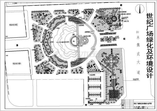某世纪广场绿化及环境设计cad图(含总平面图)-图一