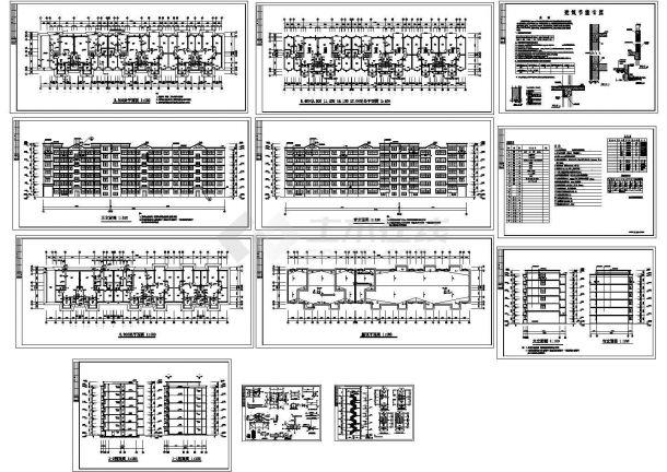 5500平米6层砖混结构节能安置楼建筑设计CAD施工图-图一