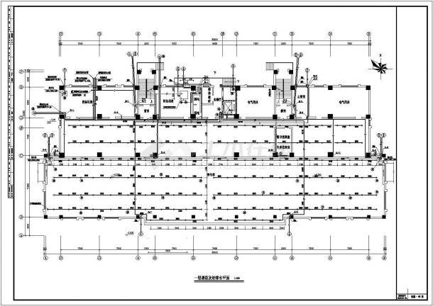 办公楼溴化锂空调cad详细施工图纸-图二