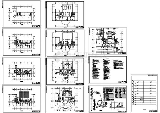 国际酒店暖通空调通风设计cad施工图-图二