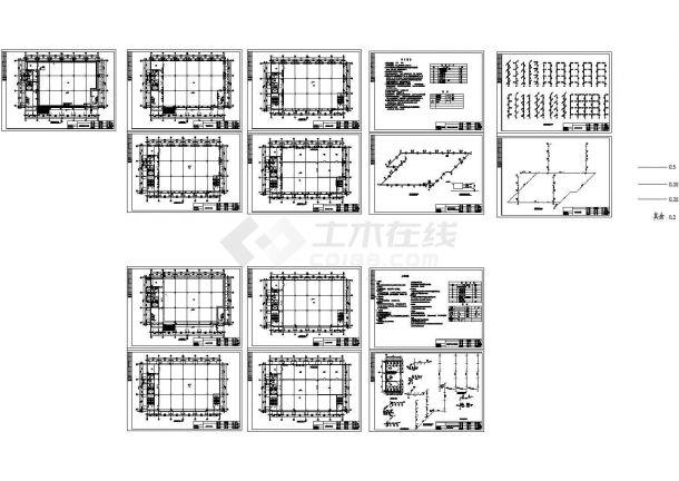 高发厂房采暖给排水cad设计施工图-图一