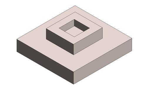 独立基础-阶形-杯口-对称-二阶
